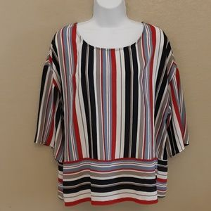 Anthropologie W5 3/4 WOMENS STRIPE TOP